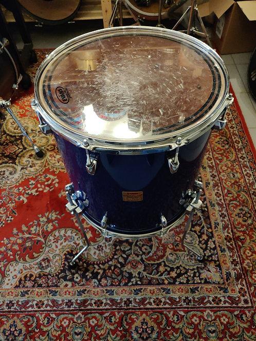 """Yamaha Beech Custom Absolute Tom Bass 16""""x16"""" Cobalt Blue Lacquer Finish"""
