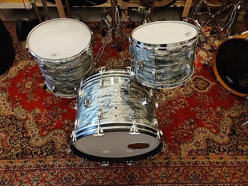 """Ludwig Sky Blue Pearl Keystone 1968 22"""" 13"""" 16"""""""