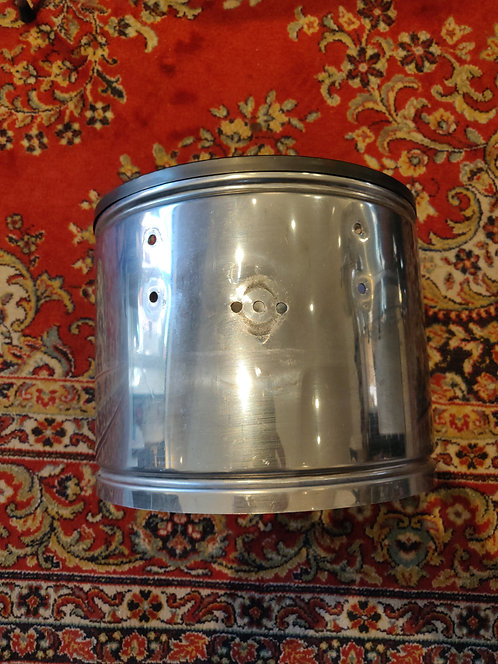 """Asba Fût nu Stainless Steel Timbales 10""""x10"""" 70's"""