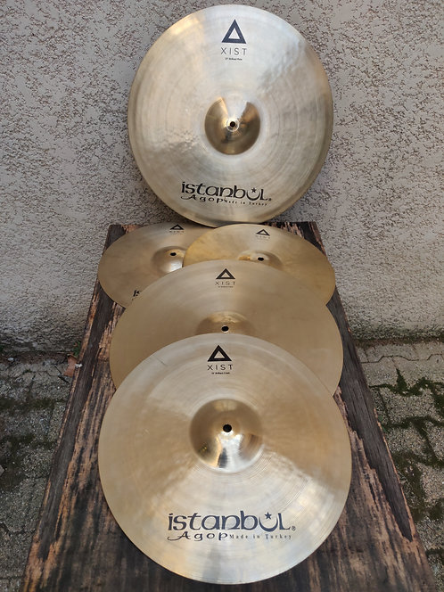 "Istanbul Agop Brilliant Xist Set 14""(HH) 16"" crash 18"" crash 20 ride + case Agop"
