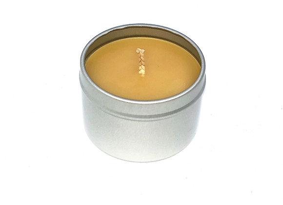 100% Pure Beeswax Candle Tin 2oz.