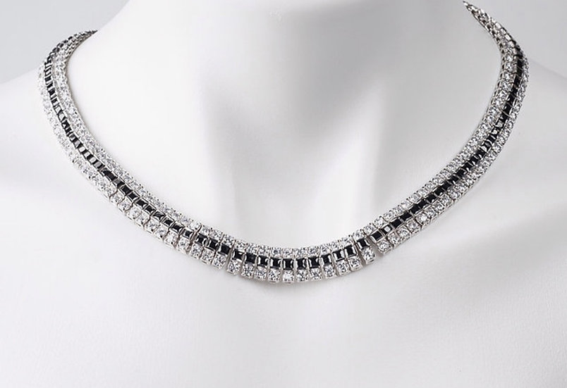 B Ring Necklace