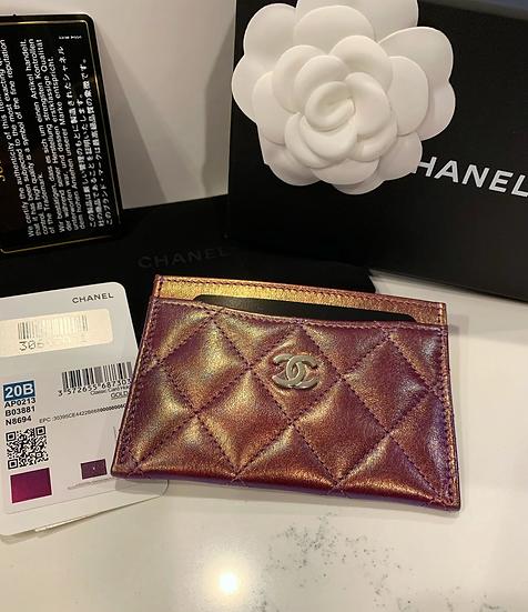 NEW Chanel Purple Iridescent Card Holder