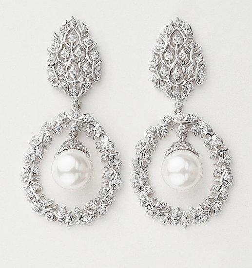 Gibbous Drop Earrings