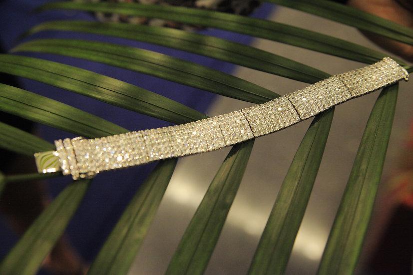 6  Strand -cubic zirconia diamond bracelet