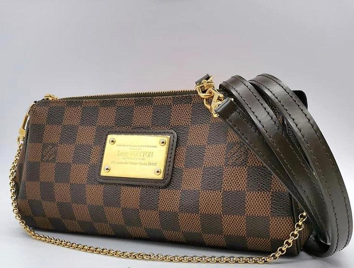 Louis Vuitton Eva Pochette Damier Ebene Bag