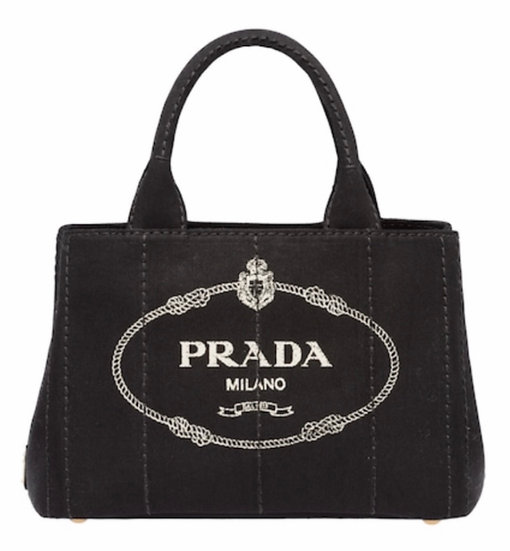 Prada | Black Canvas Crossbody Tote