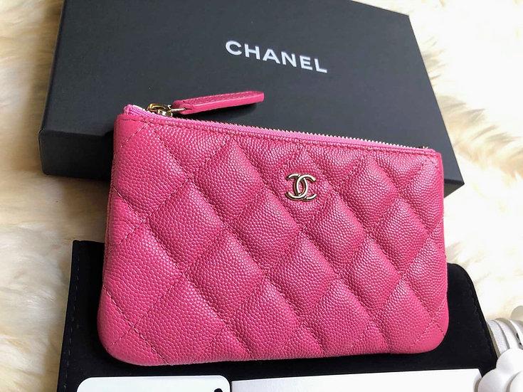 Chanel | 20S Pink Caviar O-Case