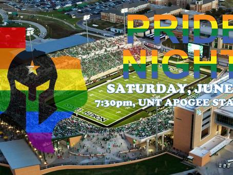 Pride Night at UNT Apogee Stadium