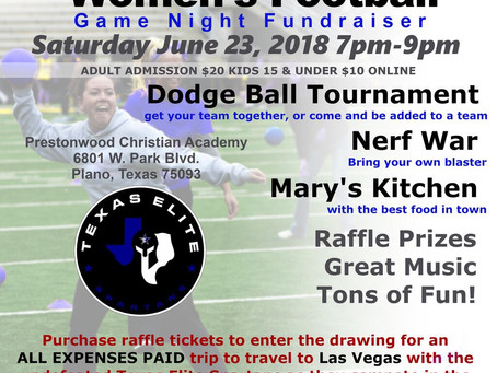 """Texas Elite Spartans Host Game Night Fundraiser to Support Trip to """"Best of the West"""" Wome"""