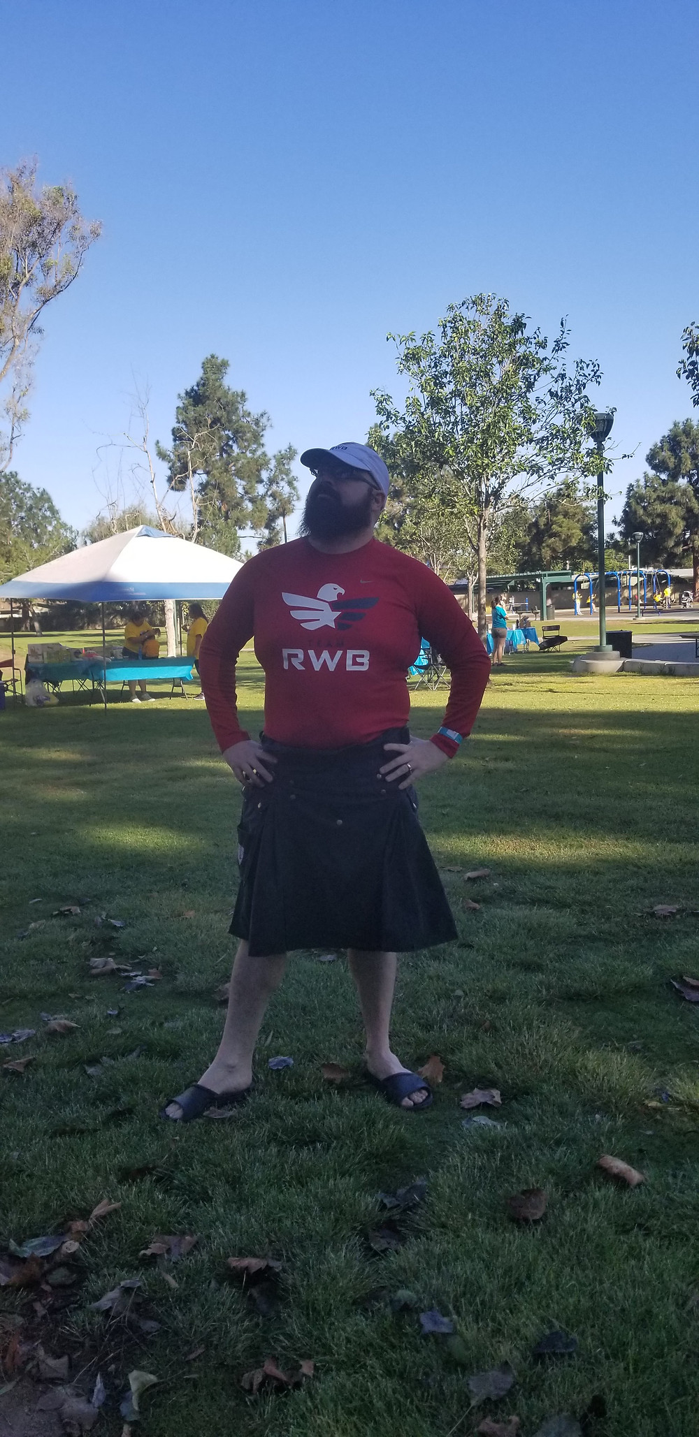 kilt, hiking, backpacking, kilts, team rwb, outdoors