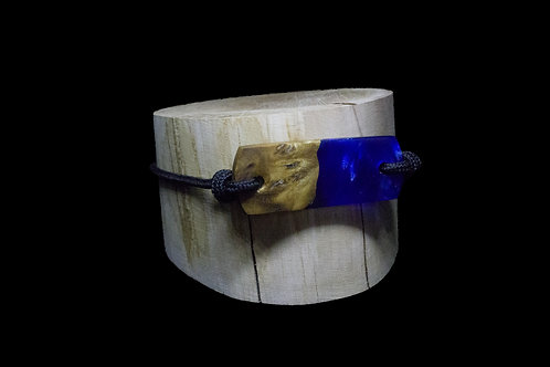 Blue epoxy - wood
