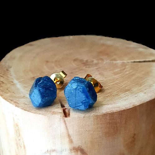 Blue Sapphire - 14k Gold Vermeil