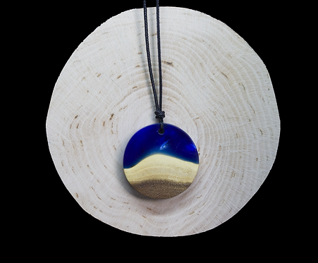 Blue epoxy - wood