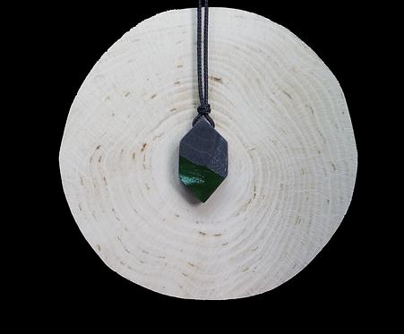 Green epoxy - black wood