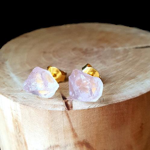 Rose Quartz - 14k Gold Vermeil