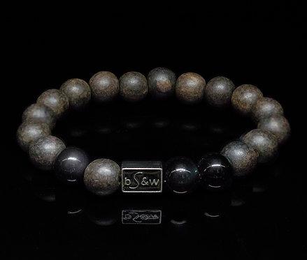 Obsidian Wood BeadS