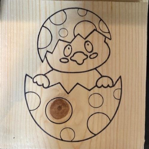 8x8 Prestenciled Chickadee Board Art