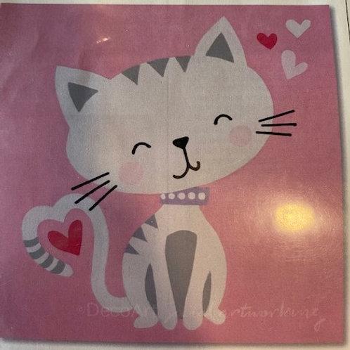 Cat Pretraced Canvas