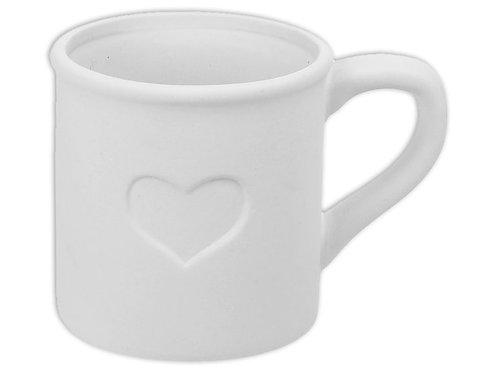 Heart Tin Mug