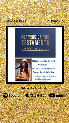Cantor Rev Misha Joy | The Great Shofar is Sounded | Prayers of the Testaments