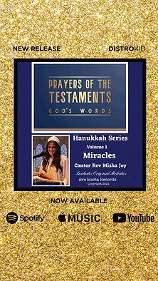Prayers of the Testaments | Miracles | Hanukkah Series | Cantor Rev Misha Joy