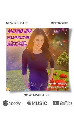 Margo Joy | Dream With Me | Sleep Lullabies ASMR Whitenoise