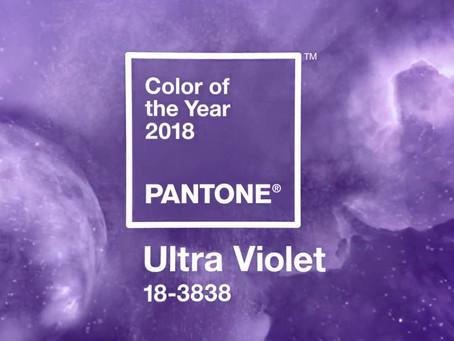 2018年度關鍵代表色出爐:紫外光色 (Ultra Violet)