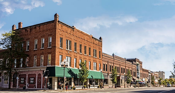 A photo of a typical small town main street in the United States of America.jpg