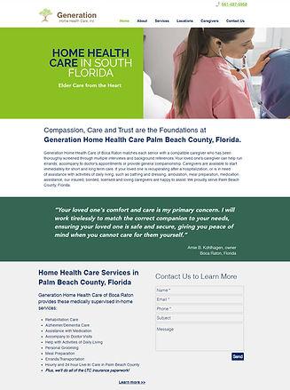 generation home health care website