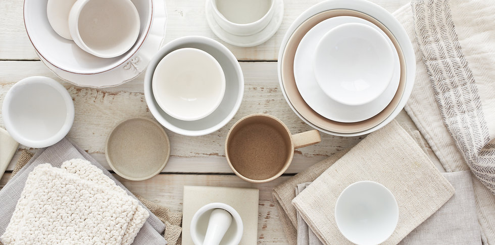 White Tableware