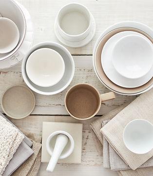 Vaisselle blanche
