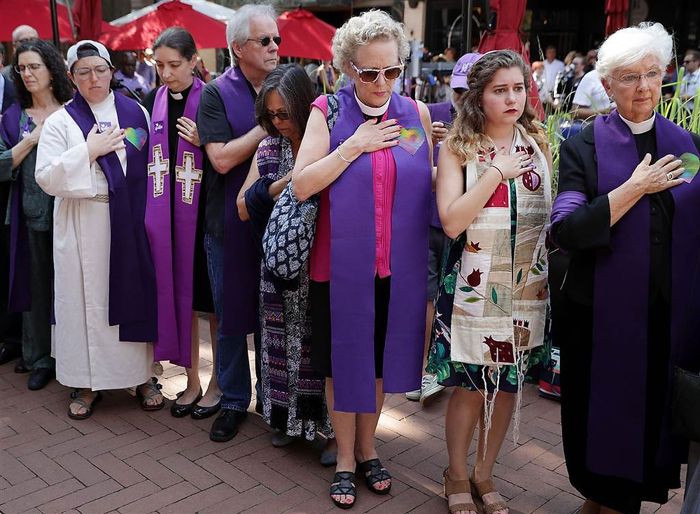 Clergy at Heather Heyer Memorial Photo Credit: Chip Somodevilla / Getty Images