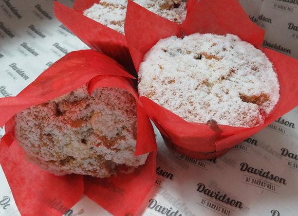 Raspberry and White Chocolate Muffin