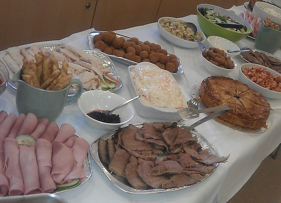 cooked meat buffet