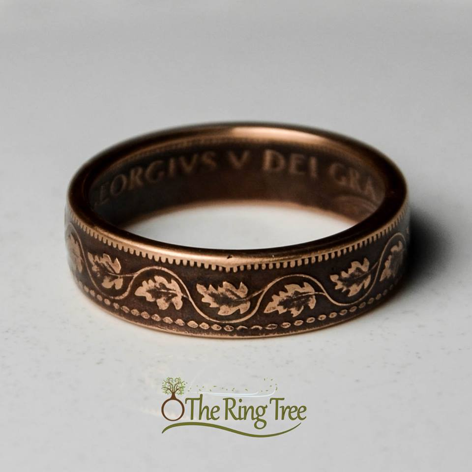 Theringtree Coin Rings Canada 1 Cent Coin Ring