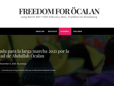 Llamada para la larga marcha 2021 por la libertad de Abdullah Öcalan