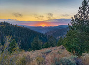 Indian Canyon Summit Sunset