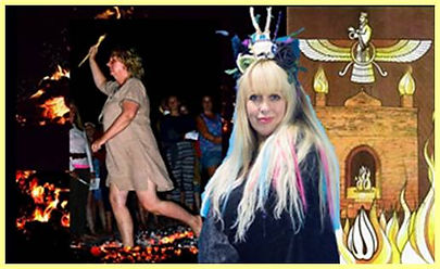 Flavia Kate Peters Fire walk Spiritvisions