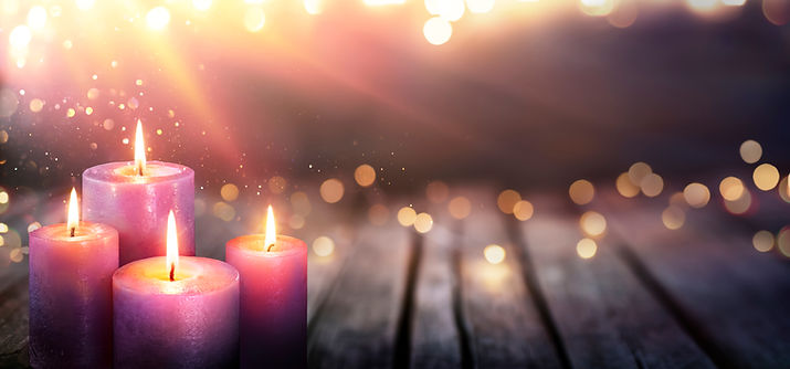 Abstract Advent - Four Purple Candles Wi