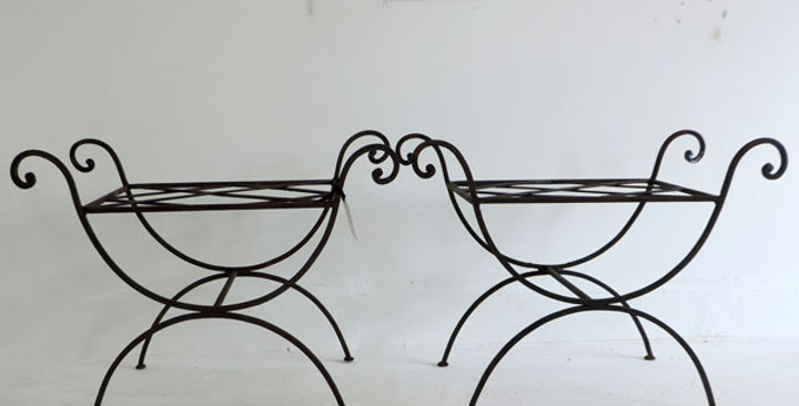 Italian wrought iron stools