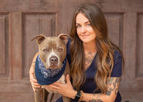 Photograph of Dayna Kowalczyk, rehabilitation director and therapist, of Veterinary Rehabilitation and Sports Medicine.