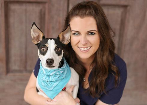 Photograph of Julia Rowe, rehabilitation therapist, of Veterinary Rehabilitation and Sports Medicine.