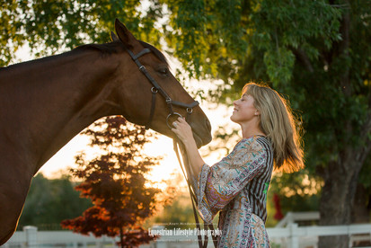 Sunset Equine Portrait Session
