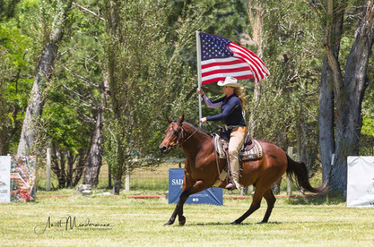 Equine Photography with American Flag