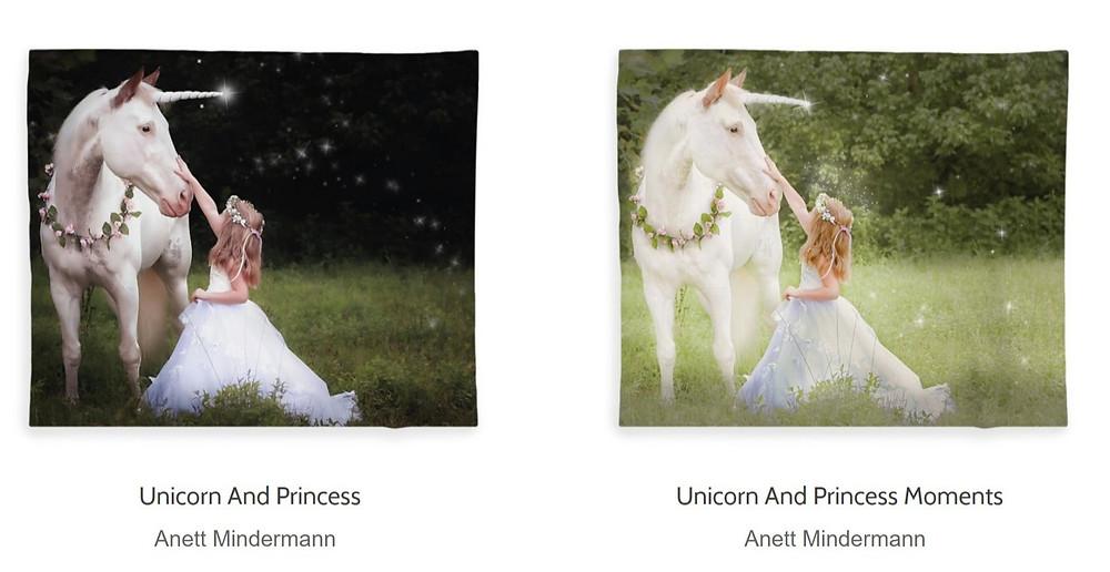 Unicorn and Princess Fleece Blankets
