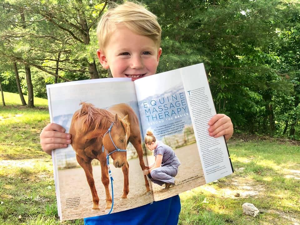 Horse & Rider Magazine features my equine massage images