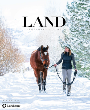 LAND Magazine Front Cover equine photography