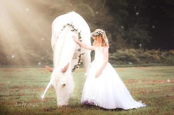 Unicorn with girl