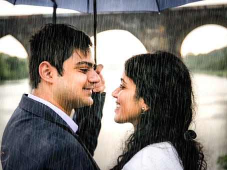 An engagement shoot in the rain?